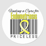 Finding a Cure For Endometriosis PRICELESS Round Stickers