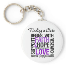 Finding a Cure For Epilepsy Keychain