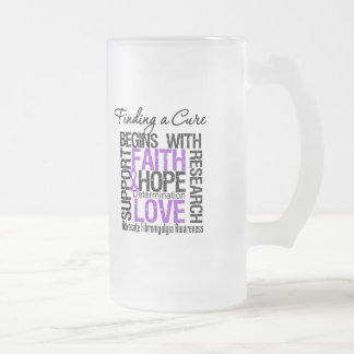 Finding a Cure For Fibromyalgia Frosted Glass Beer Mug