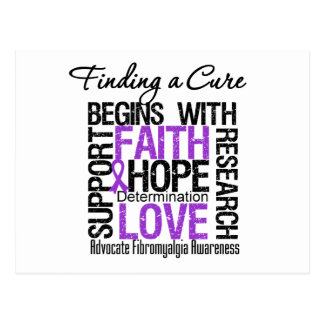Finding a Cure For Fibromyalgia Postcard