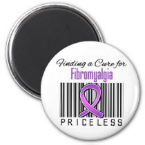 Finding a Cure For Fibromyalgia PRICELESS 2 Inch Round Magnet