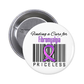 Finding a Cure For Fibromyalgia PRICELESS Pinback Button
