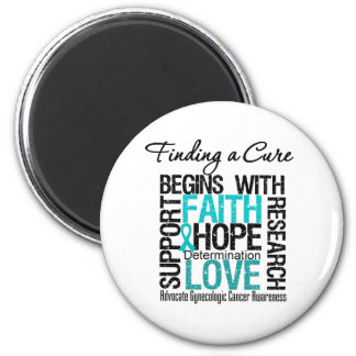 Finding a Cure For Gynecologic Cancer 2 Inch Round Magnet