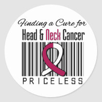 Finding a Cure For Head and Neck Cancer PRICELESS Classic Round Sticker