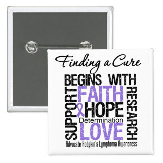 Finding a Cure For Hodgkins Lymphoma 2 Inch Square Button