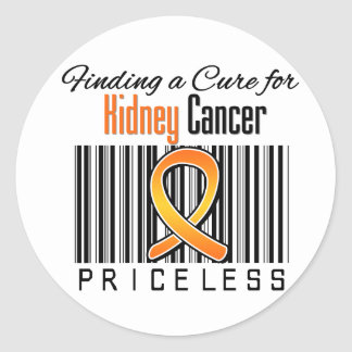 Finding a Cure For Kidney Cancer PRICELESS v1 Classic Round Sticker