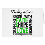 Finding a Cure For Kidney Disease (Green) Greeting Card
