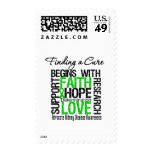 Finding a Cure For Kidney Disease (Green) Postage Stamps