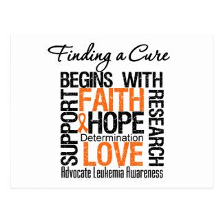 Finding a Cure For Leukemia Postcard