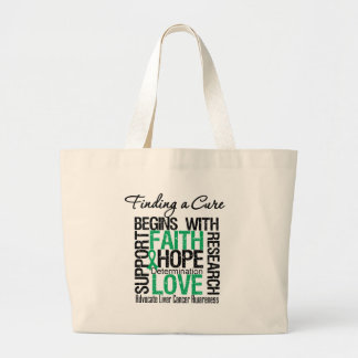 Finding a Cure For Liver Cancer Canvas Bags