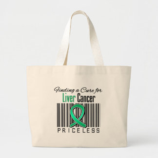 Finding a Cure For Liver Cancer PRICELESS Canvas Bags