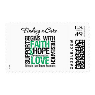 Finding a Cure For Liver Disease Postage Stamps