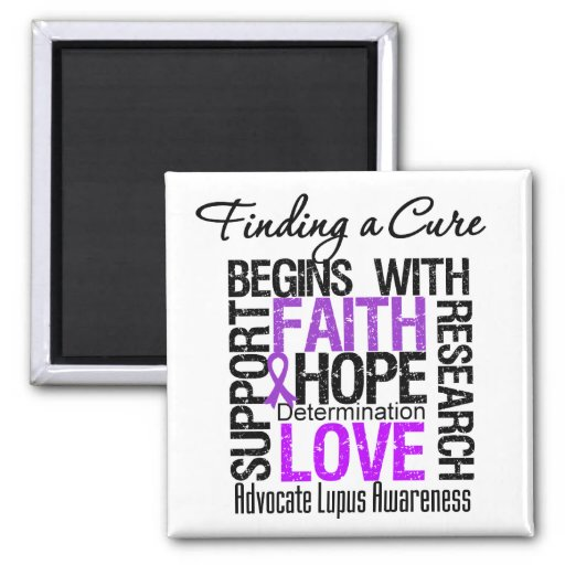 Finding a Cure For Lupus 2 Inch Square Magnet