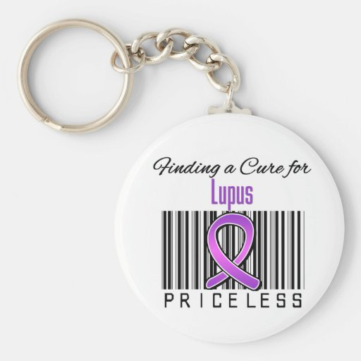 Finding a Cure For Lupus PRICELESS Basic Round Button Keychain