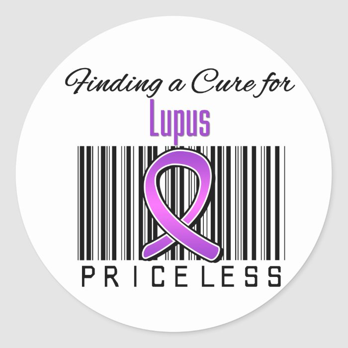 Finding a Cure For Lupus PRICELESS Classic Round Sticker