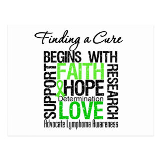 Finding a Cure For Lymphoma Postcard