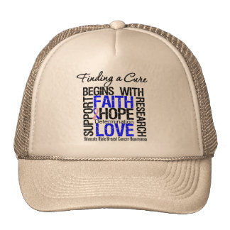 Finding a Cure For Male Breast Cancer Mesh Hat
