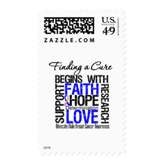 Finding a Cure For Male Breast Cancer Postage Stamps