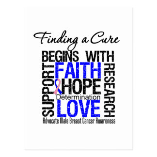 Finding a Cure For Male Breast Cancer Postcard