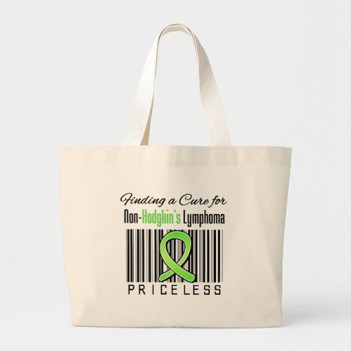 Finding a Cure For Non Hodgkins Lymphoma PRICELESS Jumbo Tote Bag