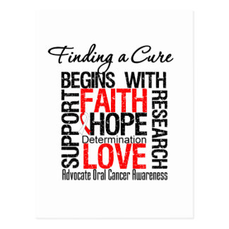 Finding a Cure For Oral Cancer Postcard
