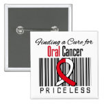 Finding a Cure For Oral Cancer PRICELESS 2 Inch Square Button