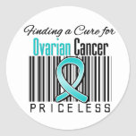 Finding a Cure For Ovarian Cancer PRICELESS Round Stickers