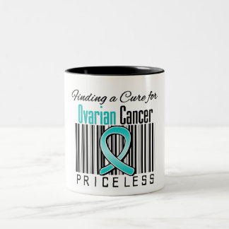 Finding a Cure For Ovarian Cancer PRICELESS Two-Tone Coffee Mug