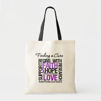 Finding a Cure For Pancreatic Cancer Budget Tote Bag