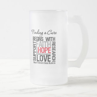 Finding a Cure For Parkinsons Disease 16 Oz Frosted Glass Beer Mug
