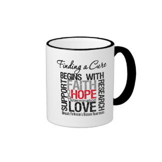 Finding a Cure For Parkinsons Disease Ringer Coffee Mug
