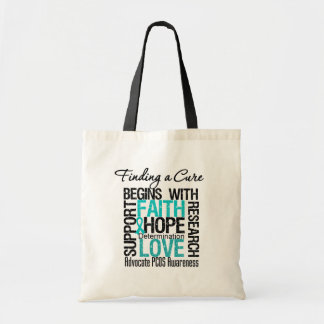 Finding a Cure For Polycystic Ovary Syndrome PCOS Canvas Bags