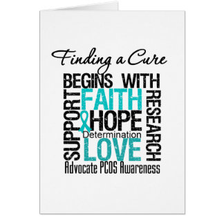 Finding a Cure For Polycystic Ovary Syndrome PCOS Card