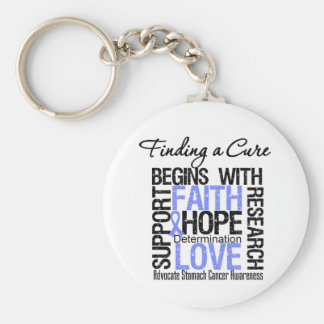 Finding a Cure For Stomach Cancer Keychain