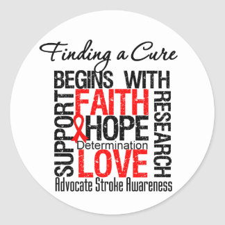 Finding a Cure For Strokes Classic Round Sticker