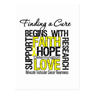 Finding a Cure For Testicular Cancer Postcard