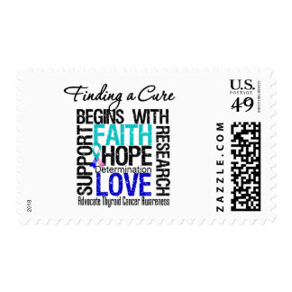 Finding a Cure For Thyroid Cancer Postage Stamps