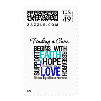 Finding a Cure For Thyroid Cancer Stamp