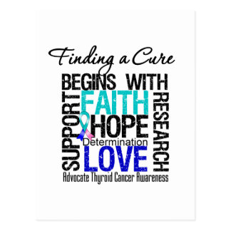 Finding a Cure For Thyroid Cancer Postcard
