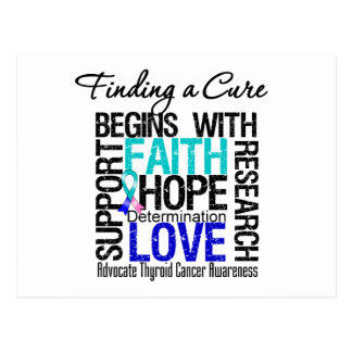 Finding a Cure For Thyroid Cancer Post Card