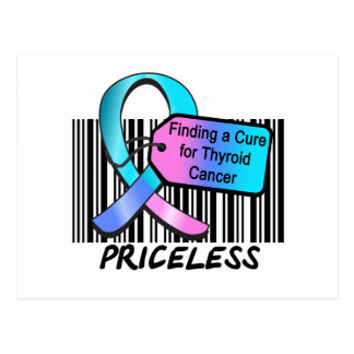 Finding a Cure For Thyroid Cancer PRICELESS Post Card
