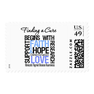 Finding a Cure For Thyroid Disease Stamps