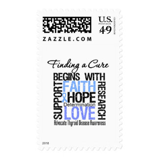 Finding a Cure For Thyroid Disease Postage Stamp