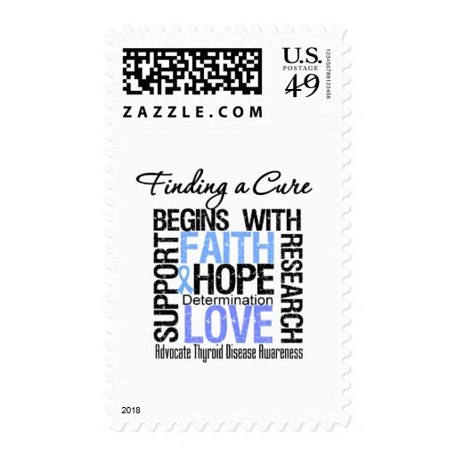 Finding a Cure For Thyroid Disease Postage Stamps