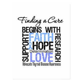 Finding a Cure For Thyroid Disease Post Cards