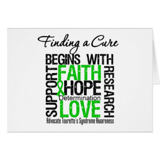 Finding a Cure For Tourette's Syndrome Greeting Card