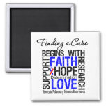 Finding a Cure  Pulmonary Fibrosis Refrigerator Magnets