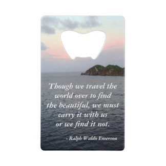 Finding Beauty Credit Card Bottle Opener