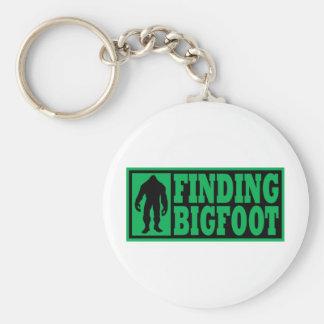 Finding Bigfoot Logo Gear Basic Round Button Keychain