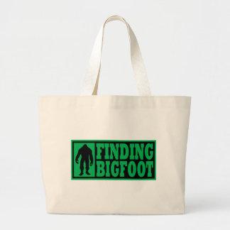 Finding Bigfoot Logo Gear Large Tote Bag